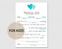 marriage advice from the Kids table! // Printable mad lib wedding advice cards