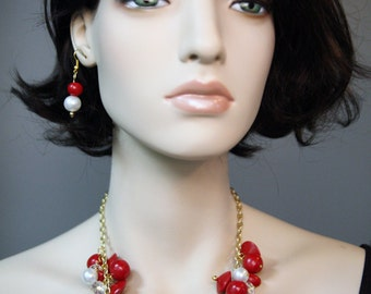 DBC Artisan Cluster Necklace and Earring Set