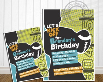 PRINTABLE Football Birthday Invitation Football Birthday Invites Sports Birthday Invitation Sports Birthday Invite Football Birthday Party