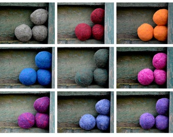 Large Dryer Balls - X-Large - Mix and Match Colored Dryer Balls