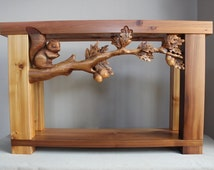 HAND CARVED sofa table | Carved book case | Handmade furniture with carved elements | Hand carved tables | carved benches | carved beds