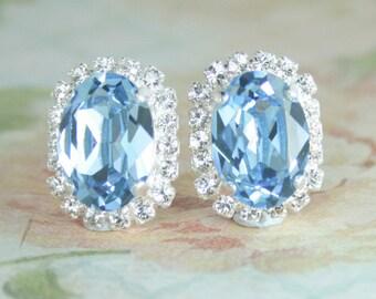 aquamarine crystal earrings,aqua earrings,march birthstone,bridal earrings,something blue,blue bridal earrings,aquamarine bridal jewelry