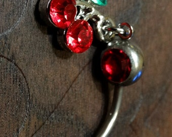 Cherry Belly Button Ring