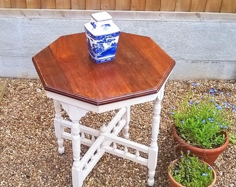Upcycled Edwardian Hexagonal Table