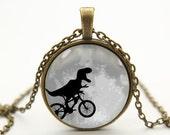 dinosaur necklace pendant jewelry- with free jewelry box