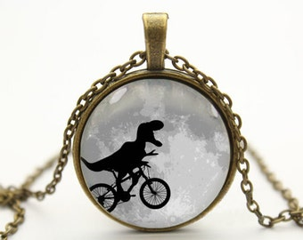 dinosaur necklace pendant jewelry- with free jewelry box