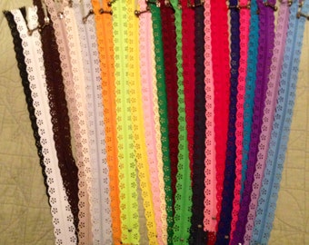 "FREE SHIP Lace zippers 14"" and 8"""
