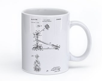 Drum Kick Mug, Drummer Gifts, Music Mug, Drum Art, Bass Drum, Music Coffee Mug, PP0104