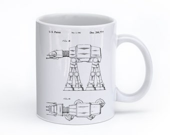 Star Wars AT AT Walker Mug, Star Wars Gift, Starwars Print, Star Wars Coffee Mug, Star Wars Tea, PP0224