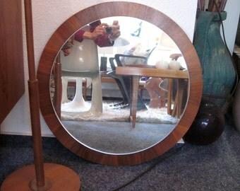 Huge mirror teak 60s era Kjersgaard