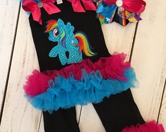 My little pony outfit and matching bow