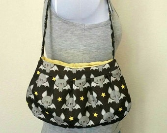 Small Kawaii Black Bat Star Animal Purse