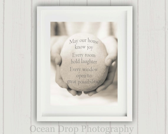 House Quote Print Housewarming Gift House Blessing Print