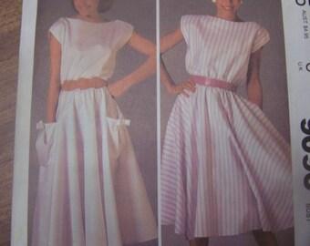 McCalls 9096, Size 12,  womens UNCUT sewing pattern, craft supplies, dress, pullover dress, misses, teens