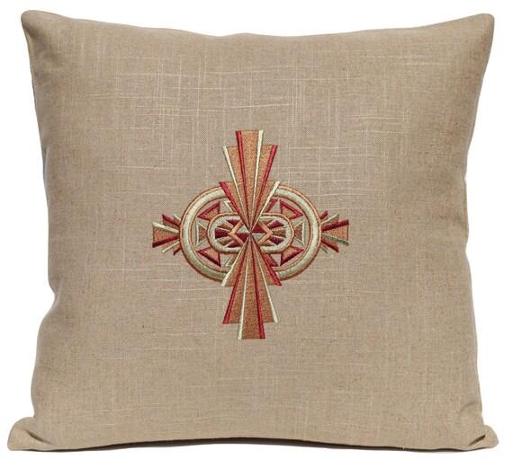 Aztec Pillow Embroidered Handmade Decorative Pillow