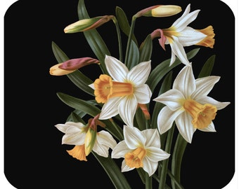 Custom mousepad, personalized mouse pad-Lent Lillies-add any text - free shipping