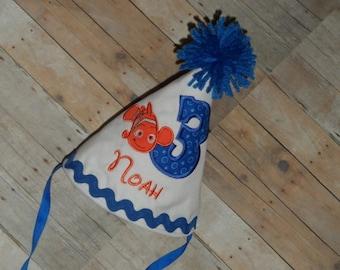 Birthday Party Hat Custom Applique Nemo Birthday Hat Smash Cake