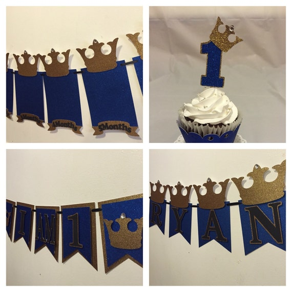 Prince themed first birthday package for 1st birthday decoration packages