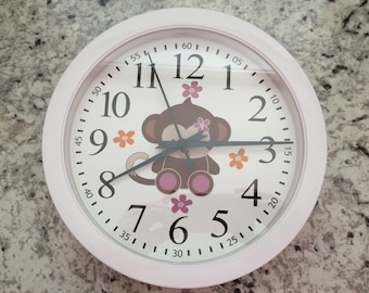 Jacana Wall Clock M2M Cocalo Nursery Bedding Animals Decor