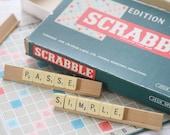 Vintage SCRABBLE Large scrabble letters. Vintage game. Bulk scrabble tiles. Scrabble tiles. French vintage toy. Vintage letters. Letter sign