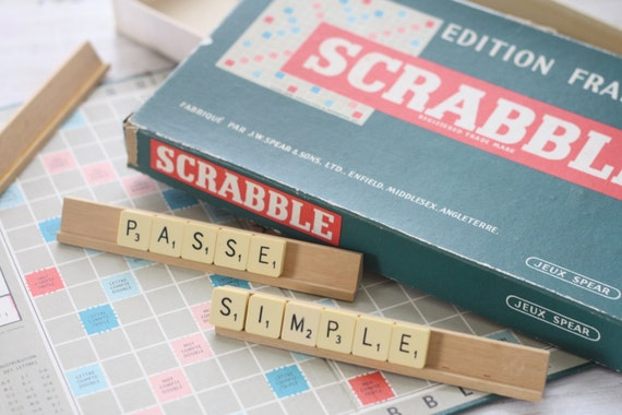 Vintage scrabble large scrabble letters vintage by for Large letter scrabble game