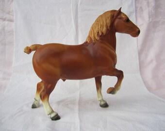 Vintage 1970's Breyer Chestnut Belgian Draft Work Horse Stallion