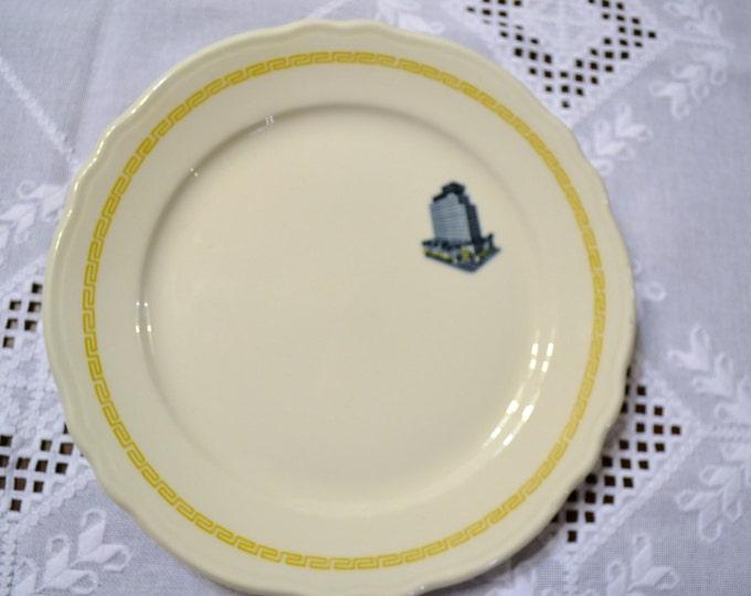 Vintage Homer Laughlin Dinner Plate Greek Key Hotel Restaurant PanchosPorch