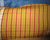 Gorgeous Pierre Deux Gold Red Pont Aven Plaid Check French Country Toile Fabric