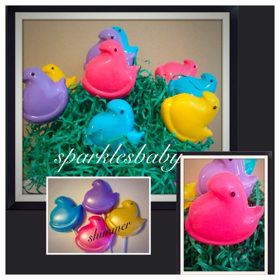 Easter Peeps Chocolate covered oreo pops by Sparklesbaby on Etsy