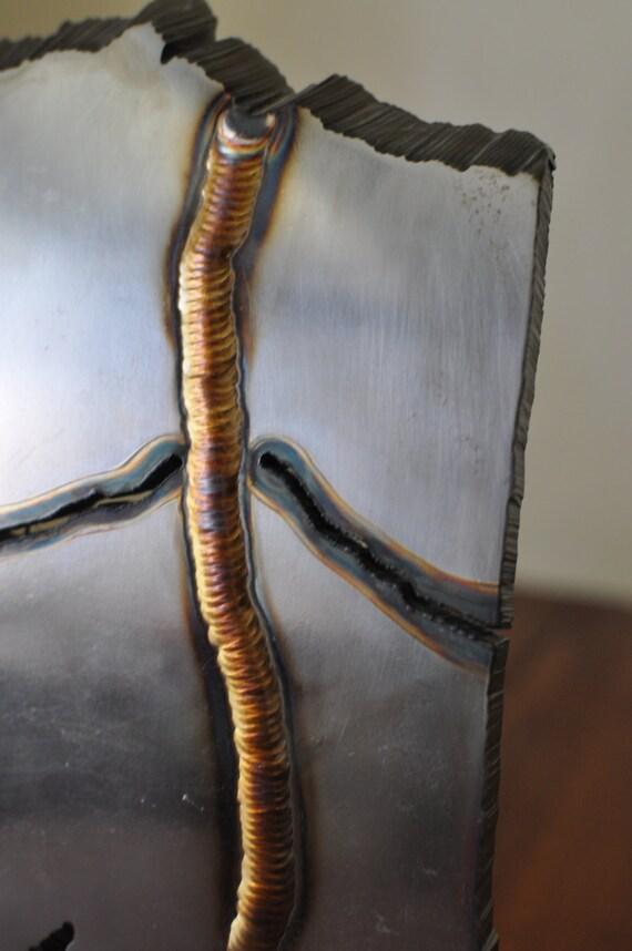 Large Stainless Steel Sculpture Alyeska Pipeline Alaska Shaped