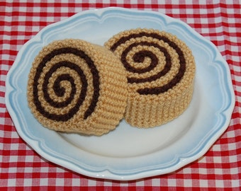 Crochet Pattern for Cinnamon Rolls / Pastries - Play Food, Toy Food