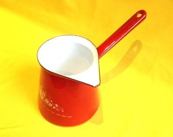 Gorgeous Bright Red Enamel Vintage Gravy Ladle