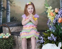 SALE! Easter Dress - Toddler Easter Petti Dress - Lace & Satin Easter Dress - Girls Easter Dress