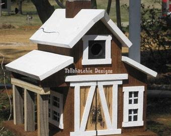 Birdhouse-Rustic Barn Birdhouse-Large Barn Birdhouse-Barn Birdhouse-Cedar Barn Birdhouse