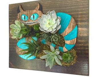 CUSTOM COLOR: Cheshire Cat Succulent + Cacti Vertical Garden | Vertical Planter | Living Wall | Wall Planter | Hanging Planter |Wood