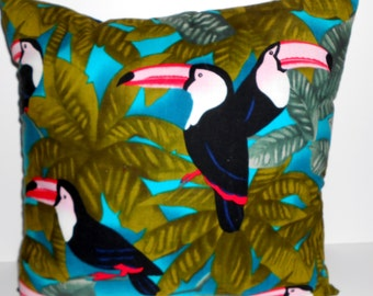 Toucan Pillows,Toucan throw pillows Tropical Bird Pillows