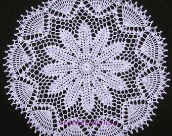 Lavender Hand Crocheted Doily