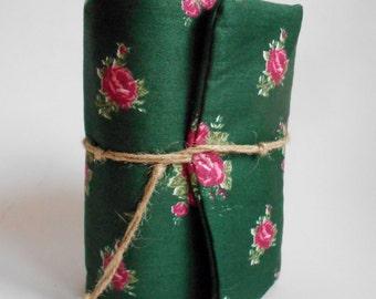 Dark Green Flowers, Journal, Handmade Diary, Travel Book, Old Paper, Pregnancy journals, Notebooks,