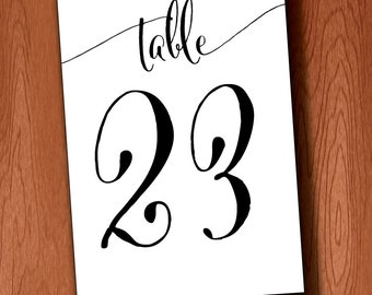 3.5x5 DIY Table Numbers for Large Wedding 1-40, Instant Download Printable Table Numbers for 3.5x5 frame
