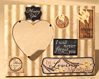 In Loving Memory/ I miss you/Always in my heart/ Picture frame