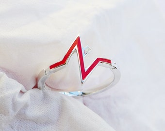 Solid Sterling Silver,Painting Ring, Letter Z Ring,Initial Letter Z Ring