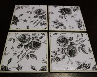Ceramic Tile Coasters - Sets of 4