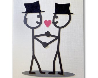 Gay Greeting Cards for Gay Wedding, Commitment Ceremony, Anniversary Card