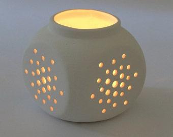 Tea Light Candle Holder, wedding candle holder, wedding décor, modern ceramic votive holder, Wedding gift, table decoration