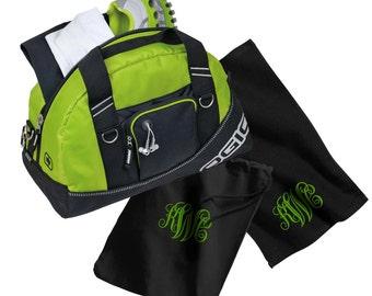 Monogram Gym Bag, Shoe Bag & Gym Towel