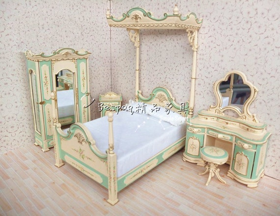 hand painted bedroom furniture set bed armoire dressing table night