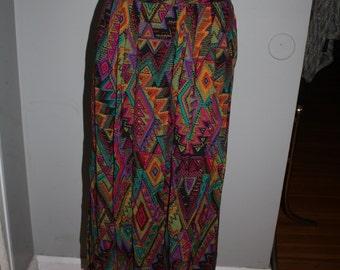 Vintage tribal print maxi skirt