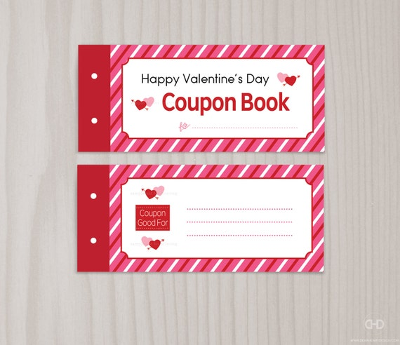 Blank Printable ValentineS Day Coupon Book Love Coupons