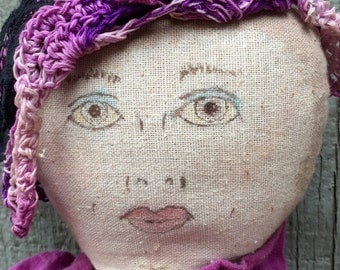 Large Vintage Rag Doll