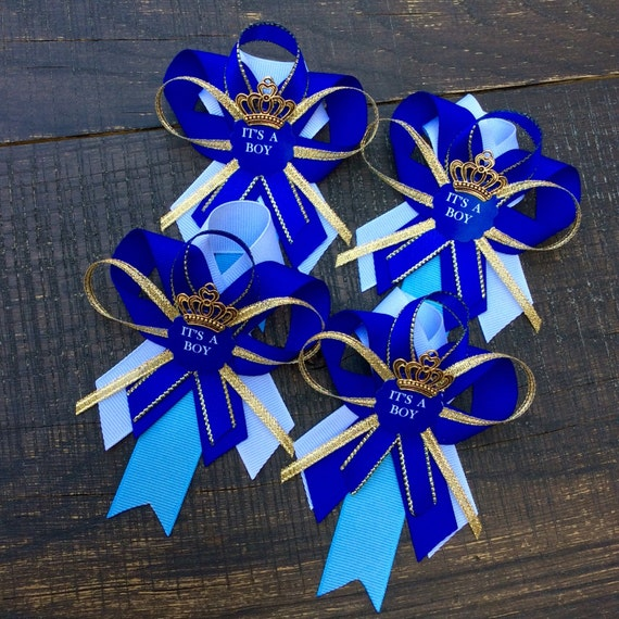baby shower pins little prince baby shower rattle royal blue baby